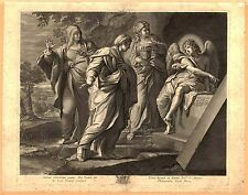Art Photo Print - Angel Announcing Resurrection Of Christ To Marys - Annibale Ca
