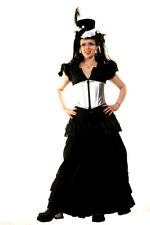 Hilary's Vanity Black Cotton Victorian Steampunk Skirt
