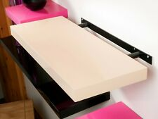 Hudson Cream Gloss Floating Shelf with Hidden Bracket - available in 3 Sizes