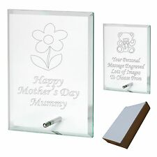 Engraved Glass Plaque Personalised Nan Nanny  Mothers Day - Birthday Gift