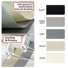 NEW Sunscreen Roller Blind 60cm to 210cm - 6 COLORS to choose