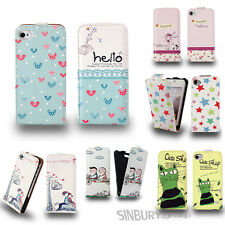 CUTE STYLISH LEATHER FLIP CASE COVER FOR APPLE IPHONE 5  5G ★ BEAUTIFUL DESIGN