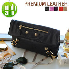 New PREMIUM ITALY CALFSKIN GIANT ENVELOPE CLUTCH Women's Purse Tote shoulder bag