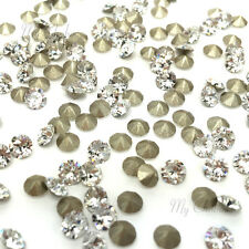 Swarovski 1028 xilion chaton pointed back rhinestones PP6-PP13 clear CRYSTAL 001