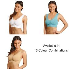 Comfort Lace Bras Size 22 – 30 Pack 3 Lace Bras with removable pads  TURQ W N
