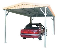 Absco Single Carport 3m x 6m Gable Roof Colorbond or Zincalume GCPSW41