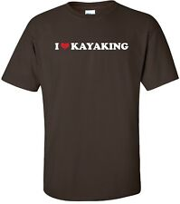I HEART KAYAKING Cool Outdoor Recreational Sport Double Paddle LOVE T-Shirt