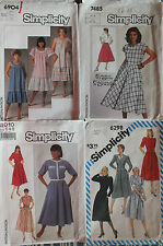 VTG 80s Misses Simplicity DRESS~TOPS~SKIRTS~SUIT Pattern 6-8-10-12 All UC