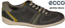 ECCO Shoes lace ups model CHANDER lace grey suede leather insole NEW