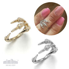 Punk Eagle Bird Claw Paw Talon Over The Midi Tip Finger Above The Knuckle Ring