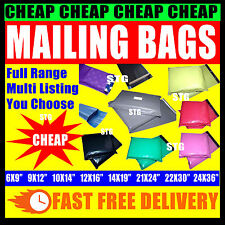 STRONG PLASTIC MAILING BAGS for Postage Postal All Sizes Colours MULTI LISTING
