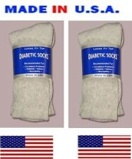 women diabetic gray cotton crew sock size 9-11 shoe size 5 - 9 gift for her