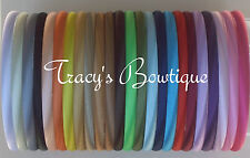 Smooth Solid Satin Skinny 7mm Headband for Hair Crafts Embellishments Flowers