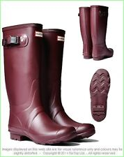 HUNTER HUNTRESS BURGUNDY TALL EXTENDED CALF WELLINGTON BOOT RED Wide Welly NWT
