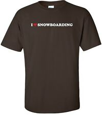 I HEART SNOWBOARDING Cool Outdoor Extreme Snow Sport LOVE T-Shirt