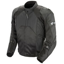 JOE ROCKET RADAR HYBRID LEATHER MOTORCYCLE RIDING JACKET BLACK MOTOR CYCLE