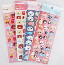 Off the Animal Puffy Sticker Sheet (Your Choice of Design)~KAWAII!!