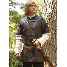 Viking / Medieval Brown Leather Jerkin Perfect For Re-enactment Stage & LARP