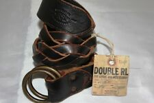 NWT POLO RALPH LAUREN RRL MENS  AWESOME O RING  RARE LEATHER BELT SIZE 28