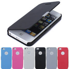 Hot Sale PU Leather Flip Hard Pouch Stand Wallet Case Cover For iPhone 5 5G