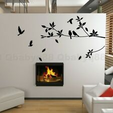 Bird Tree Branch Wall Stickers DIY Art Home Family Decals Kids Nursery Decor