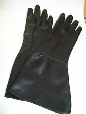 MEN'S BLACK TOP GRAIN SHEEPSKIN GAUNTLET GLOVES
