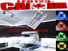 KITCHEN UNDER CABINET LED LIGHTING COLOR CHANGING STRIP+ADAPTER+REMOTE+HOW TO