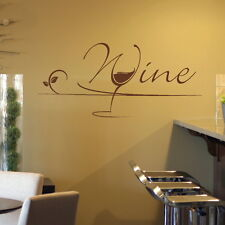 Wine Quote - Kitchen Wall Sticker / Stylish Decal / Kitchen Wall Transfer x30