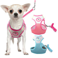 Nylon Mesh Dog Harness Leash Set Breathable Puppy Girth Vest&Lead Adjustable