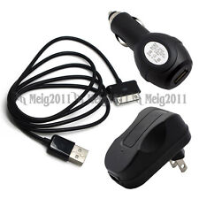 USB Cable+Car+AC Wall Charger for Samsung Galaxy Tab 8.9 GT-P7300 P7310 SGH-i957