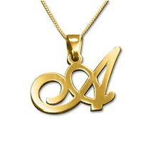 18K Yellow Gold Plated Initial Pendant Necklace