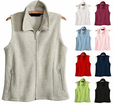 LADIES ANTI-PILL MICROFLEECE VEST, TAILORED FIT, POCKETS,  XS S M L XL 2X 3X 4X
