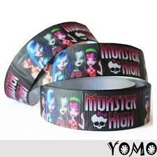 "1""25mm Monster High Printed grosgrain ribbon 10/50/100 yards hairbow Wholesale"