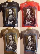 Minute Mirth Modern street Monalisa Tattoo Retro Vintage Men T-shirt M L
