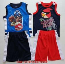 ANGRY BIRDS Boys 2T 3T 4T 4 5 6 7 Set OUTFIT Shirt Tank Shorts STAR WARS Space