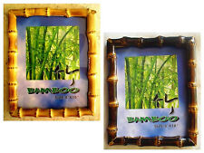 """Real Bamboo Root Photo/Picture Frame 8"""" x 10"""" -Choice of Natural or Burnt Color"""
