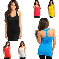 Summer Racer Back tank embroidery pocket soft top Shirt Cami Camisole Basic