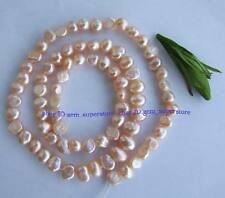 """Natural 5-7mm Pink Smooth Baroque Fresh Water Pearl Gemstone Beads 14.5"""""""
