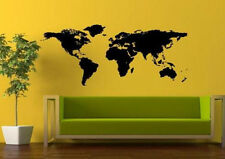 Removable Vinyl Wall Art Decal Sticker Big Global World Map Atlas 3 Sizes