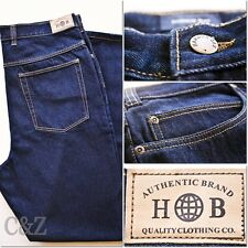 New Men Harbor Bay Big and Tall Dark Denim Loose Fit Classic Jeans Sizes W 36-40