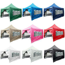 Waterproof Pyramid-roof 10 X 10 EZ POP SET UP CANOPY TENT GAZEBO W/ 4 WALLS