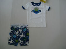 OLD NAVY BOYS Blue Space Ship PAJAMAS Size 12-18 mos NWT