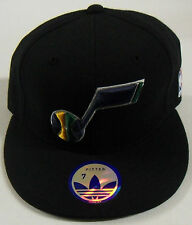 NBA New Orleans Jazz Adidas Flat Brim Fitted Cap Hat NEW!