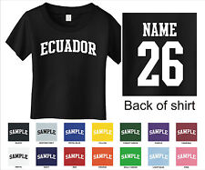 Country of Ecuador Custom Personalized Name & Number Infant or Toddler T-shirt
