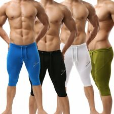 HOT Brand Mens Sports Trunks Fitness Boxer Brief Cropped Trousers Swimwear S M L