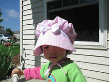 Baby Toddler Girls Vintage Style Prairie Bonnet /Sun Hat  Sz 3 Months to 8 years