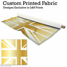 1 GOLD UNION JACK PER METRE FABRIC LYCRA SATIN JERSEY CHIFFON PRICES FROM£15.99