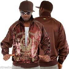 Akademiks Stage Super Star MJ Sequin Bling Hip Hop Track Jacket Top # A46JT61