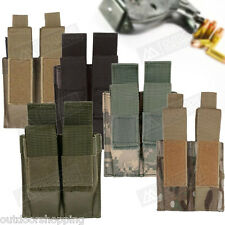 """MOLLE Modular Pistol Dual Mag Pouch - 4 1/2"""" x 4 1/4"""" x 1 1/2"""", Magazine Rounds"""