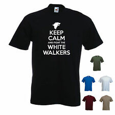'Keep Calm and Fight the White Walkers' Game of Thones Stark Lannister T-shirt